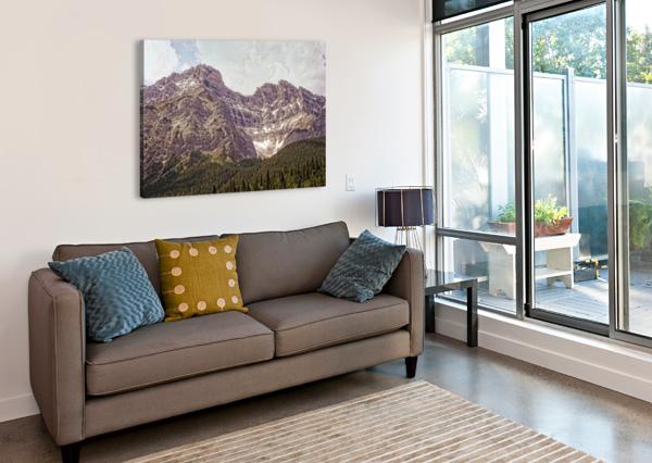 CASCADE MOUNTAIN IN BANFF NATIONAL PARK BC BOEHM PHOTOGRAPHY  Canvas Print