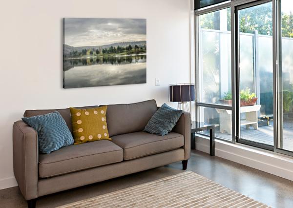 AUTUMN LAKE REFLECTIONS ANN ROMANENKO  Canvas Print