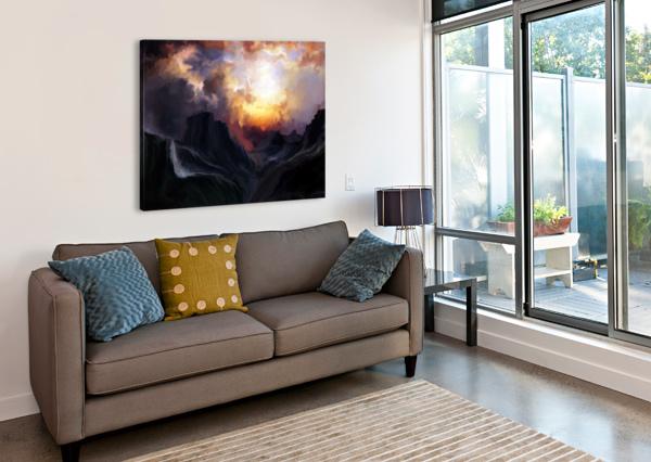 DARK MOUNTAINS ANGEL ESTEVEZ  Canvas Print