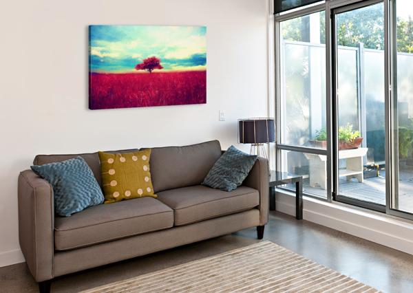 RED TREE ANGEL ESTEVEZ  Canvas Print