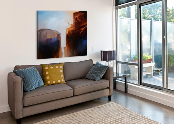 SHARP CLIFFS ANGEL ESTEVEZ  Canvas Print