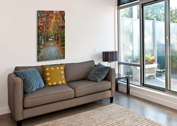 FALL IN THE CITY JONGAS PHOTO  Canvas Print