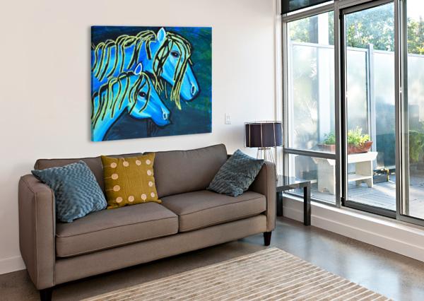 BLUE HORSE. GLENN N THE ARC OF THE CAPITAL AREA  Canvas Print