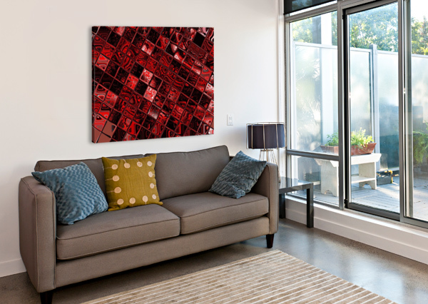 RED GLASS TILES 3 SHERRIE LARCH  Canvas Print