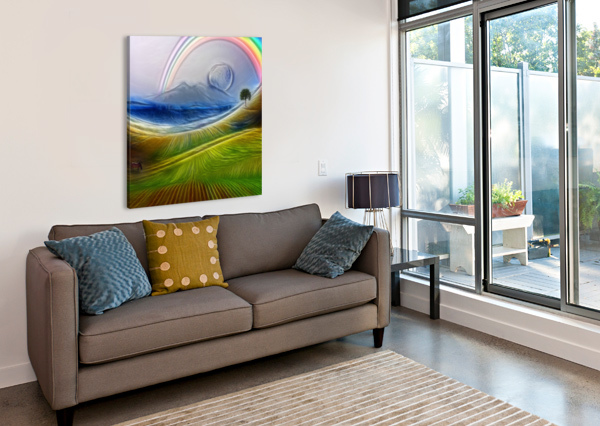 PAINTERLY PEACEFUL LANDSCAPE BRUCE ROLFF  Canvas Print