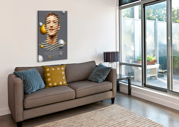 MARK ZUCKERBERG2 GUNAWAN RB  Canvas Print