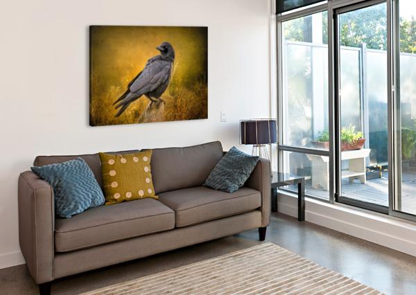 BLACK CROW MICHEL SOUCY  Canvas Print
