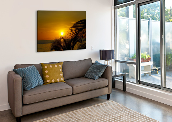 SUNRISE AT THE PALM TIPS TOMMIKEE  Canvas Print