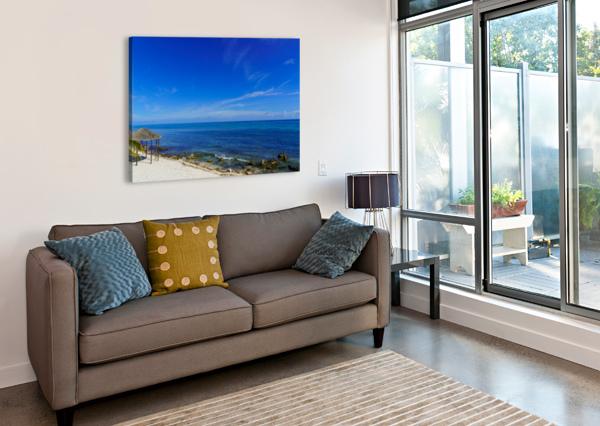 CARIBBEAN BLUES AT GRAND CAYMAN TOMMIKEE  Canvas Print