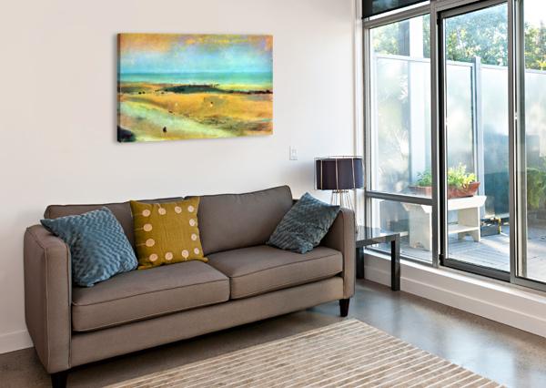 BEACH AT LOW TIDE 1 BY DEGAS DEGAS  Canvas Print