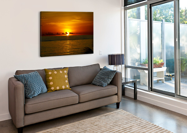 SUN RISING ON THE CARIBBEAN TOMMIKEE  Canvas Print