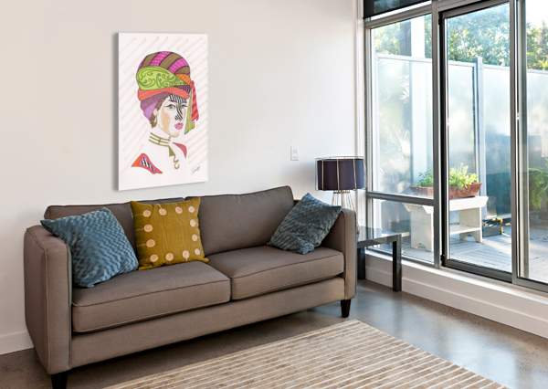A WOMAN OF A DIFFERENT STRIPE JAYNE SOMOGY  Canvas Print