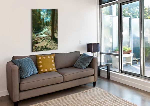 ROCKY MOUNTAIN WATERFALL DIONYZIUZ  Canvas Print