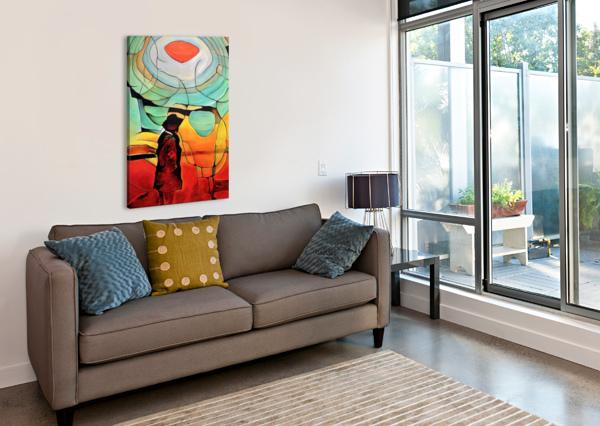 SUN RINGS BRIAN NORMANDEAU  Canvas Print