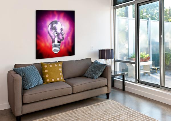 HUMAN LIGHT BULB HEAD BRUCE ROLFF  Canvas Print