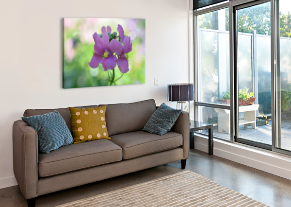 PURPLE FLOWERS PHOTOGRAPH KATHERINE LINDSEY PHOTOGRAPHY  Canvas Print