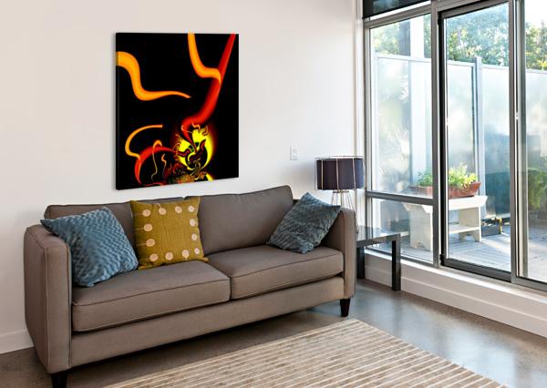 LIGHTENING_NUDE EGALITARIAN ART GALLERY  Canvas Print