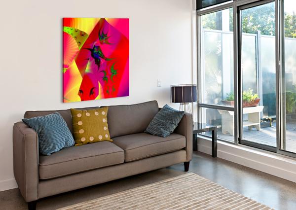 SUN_FLIES EGALITARIAN ART GALLERY  Canvas Print
