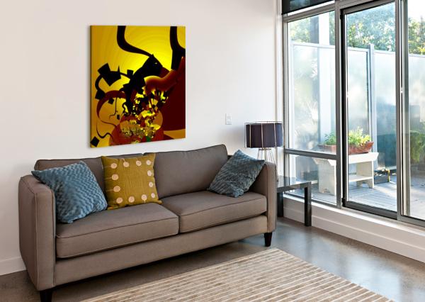 SUNRISE_CROSSWORD EGALITARIAN ART GALLERY  Canvas Print