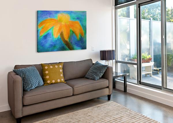 ORANGE FLOWER AURELIA SCHANZENBACHER SISTERS FINE ARTS  Canvas Print