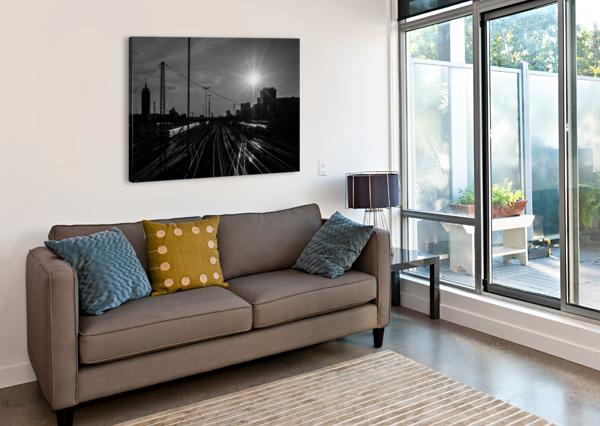 GERMAN RAILS ARTWORK VIEW - AMAZING PHOTOGRAPHY  Canvas Print