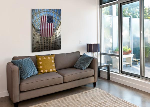 UNITED STATES FLAG AURELIA SCHANZENBACHER SISTERS FINE ARTS  Canvas Print