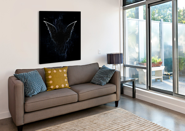 OUTLINE OF WINGED CREATURE BRUCE ROLFF  Canvas Print