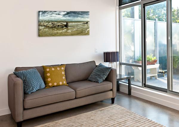 DRIFTWOOD BEACH PANORAMA 103 BLACKGOLD BILL SWARTWOUT PHOTOGRAPHY  Canvas Print