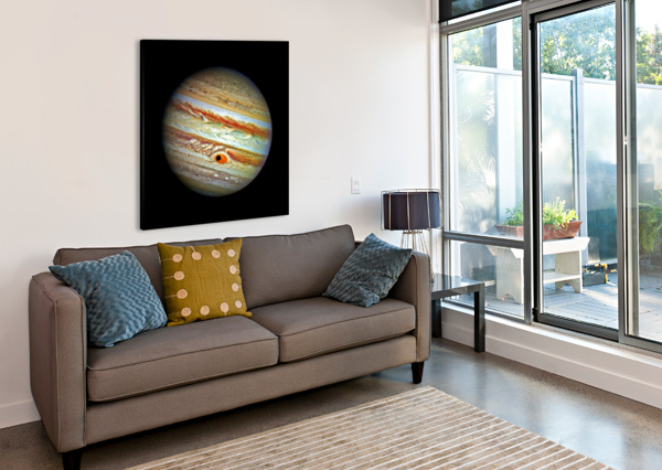 JUPITER WITH GANYMEDE OUTER SPACE IMAGE BILL SWARTWOUT PHOTOGRAPHY  Canvas Print