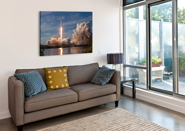 FALCON HEAVY DEMO MISSION 020118 BILL SWARTWOUT PHOTOGRAPHY  Canvas Print