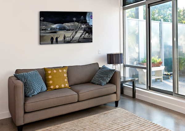 MOON BASE 2 BILL WRIGHT  Canvas Print