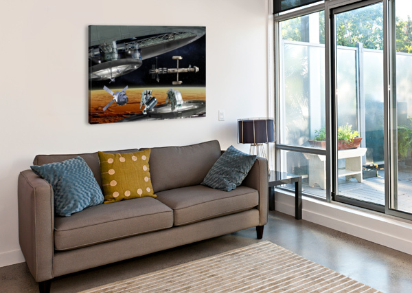 MARS PROJECT 4 BILL WRIGHT  Canvas Print