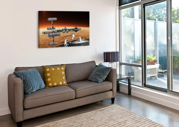 COPERNICUS AT MARS BILL WRIGHT  Canvas Print