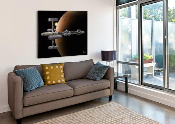 COPERNICUS IN MARS ORBIT BILL WRIGHT  Canvas Print