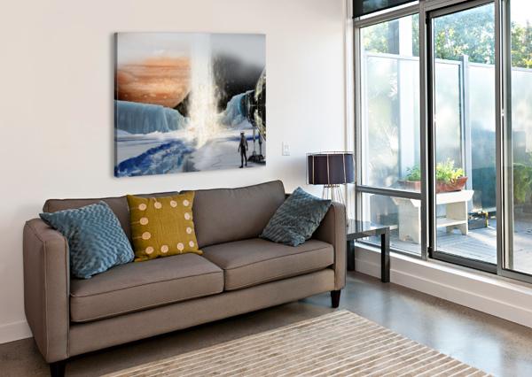 GEYSER ON EUROPA BILL WRIGHT  Canvas Print