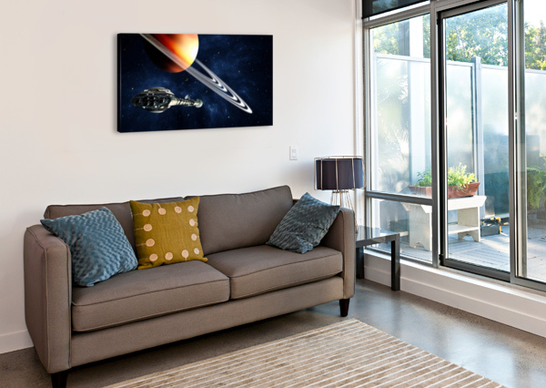 SATURN FLY-BY BILL WRIGHT  Canvas Print
