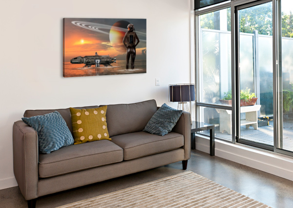 WATERWORLD BILL WRIGHT  Canvas Print