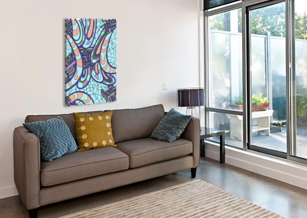WANDERING ABSTRACT LINE ART 09:  DREAM RIPPLE  Canvas Print