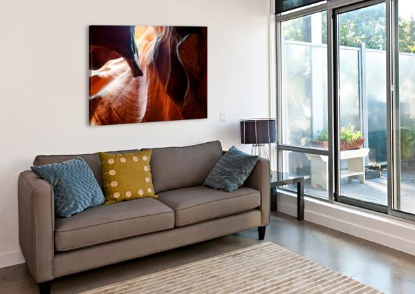 UPPER ANTELOPE CANYON 3 TELLY GOUMAS   Canvas Print