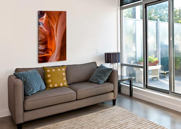 UPPER ANTELOPE CANYON 4 TELLY GOUMAS   Canvas Print