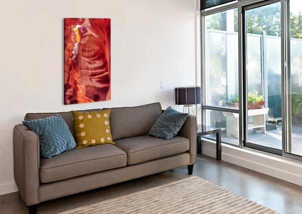 UPPER ANTELOPE CANYON 7 TELLY GOUMAS   Canvas Print