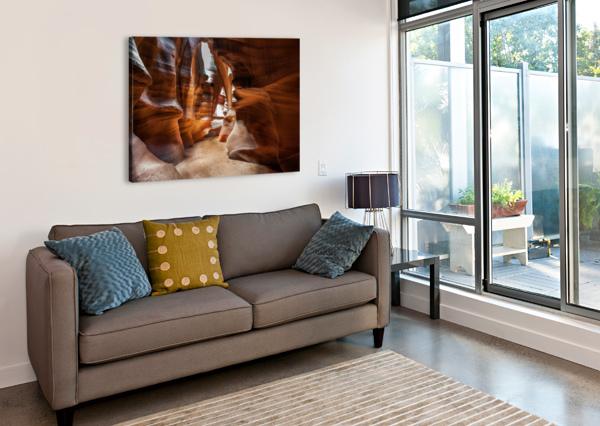 UPPER ANTELOPE CANYON 9 TELLY GOUMAS   Canvas Print