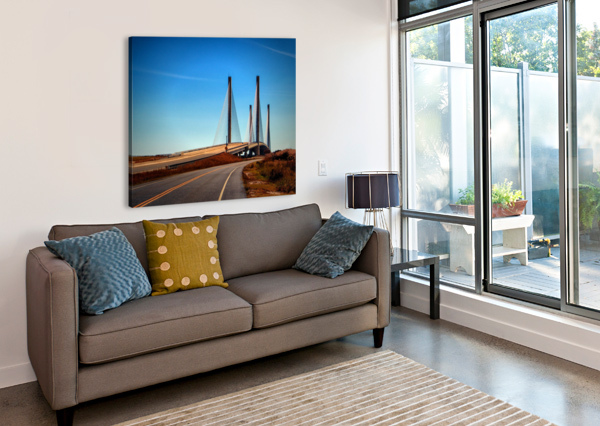 INDIAN RIVER BRIDGE NORTH APPROACH BILL SWARTWOUT PHOTOGRAPHY  Canvas Print