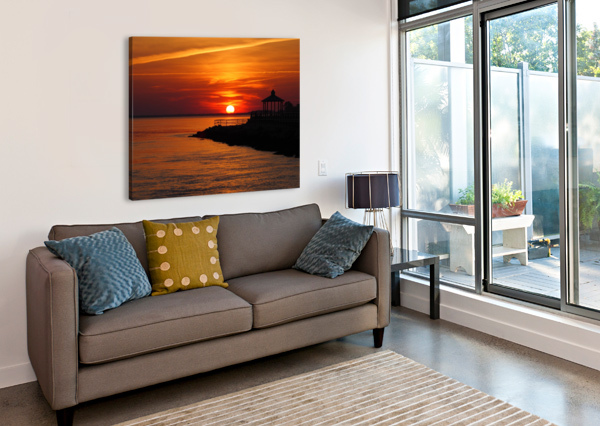 SUNSET OVER INDIAN RIVER INLET AND BAY BILL SWARTWOUT PHOTOGRAPHY  Canvas Print