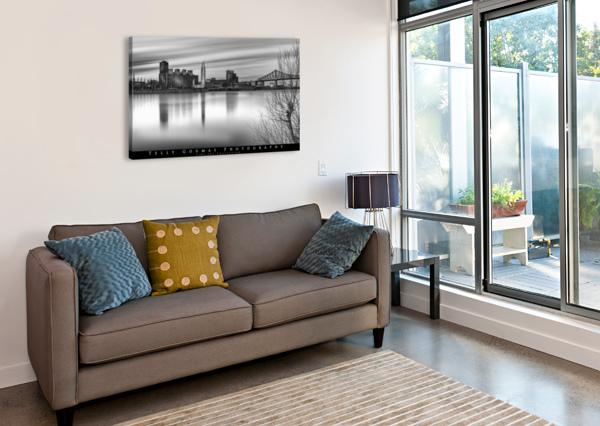 LONG EXPOSURE MTL TELLY GOUMAS   Canvas Print