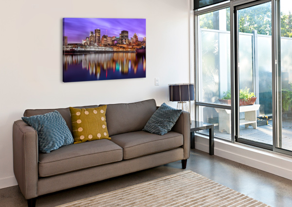 MTL SKYLINE TELLY GOUMAS   Canvas Print