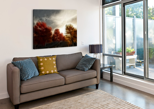 IMPRESSIONIST AUTUMN SCENE BRUCE ROLFF  Canvas Print