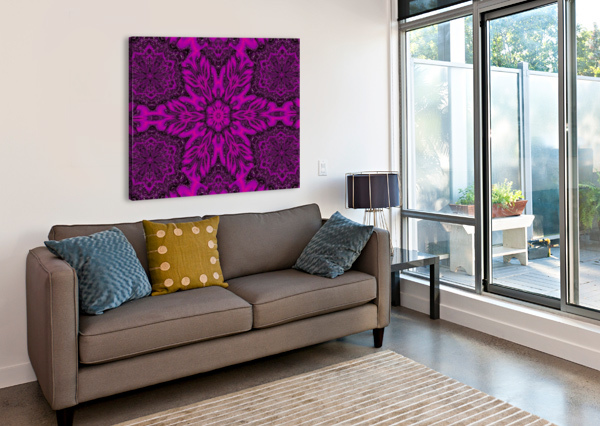 PURPLE DESERT SONG 39 SHERRIE LARCH  Canvas Print