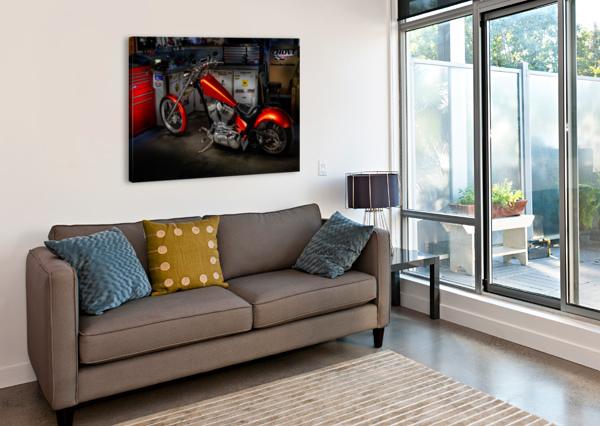 BIKE EDIT TELLY GOUMAS   Canvas Print