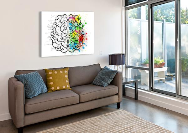 BRAIN MIND PSYCHOLOGY IDEA DRAWING SHAMUDY  Canvas Print